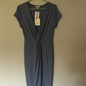 Rolla Coster navy/whit stripe knitted dress Sz L